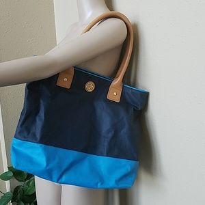 cf346dec1ae Tory Burch Bags - 👜Tory Burch Jaden Tote Navy Turquoise EUC